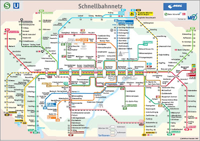 Munich S bahn map with u bahn