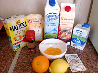 Ingredientes para crema catalana