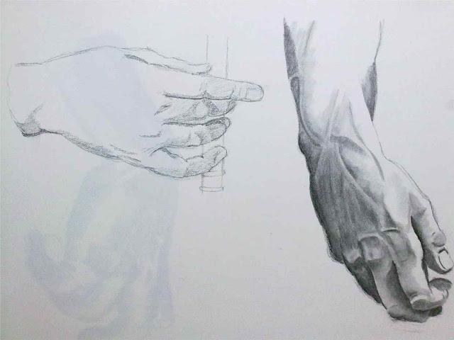 estudio de manos de hyacinthe rigaud y miguel angel