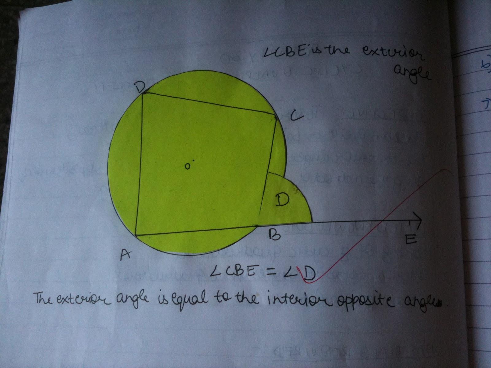 Bbps Bal Bharati Public School Rohini Exterior Angle Of A Cyclic Quadrilateral