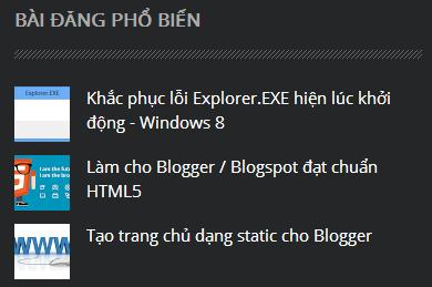 Bài đăng phổ biến chuẩn HTML5 cho Blogger
