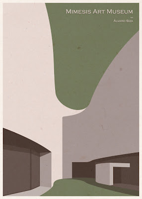Mimesis Art Museum - Alvaro Siza Vieira - Posters de Arquitectura Minimalistas de André Chiote