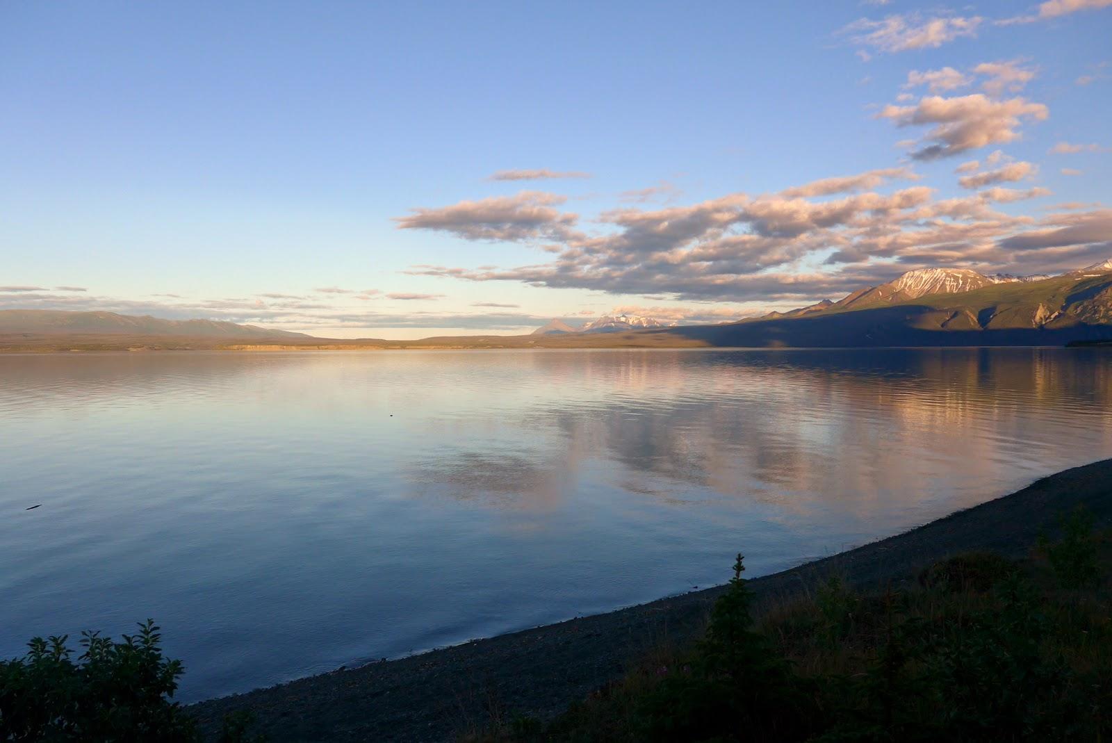 Kluane Lake, Yukon.