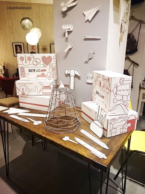 Material für das Lampen DIY gesponsert von Modulor - Hauptstadtpuppi