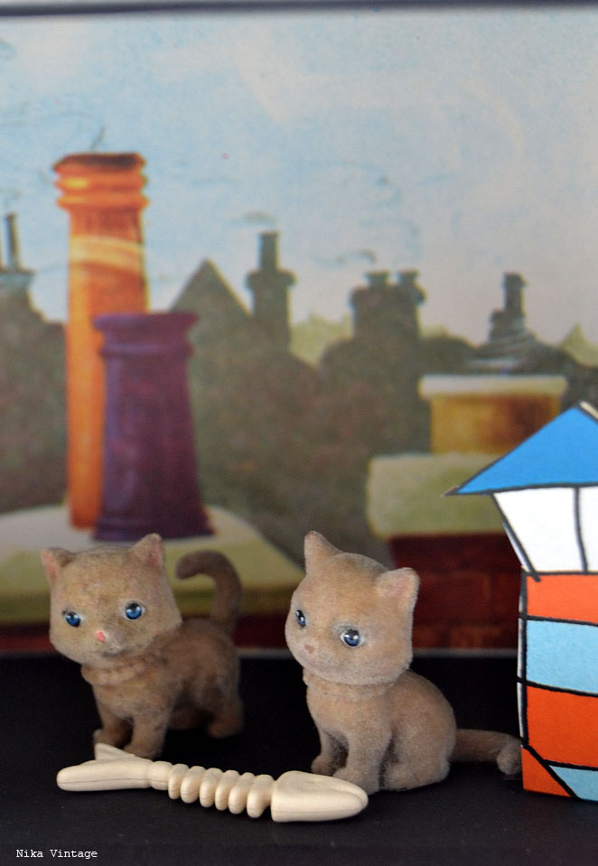 diy, hazlo tu mismo, diorama, gatos, gato, tejado