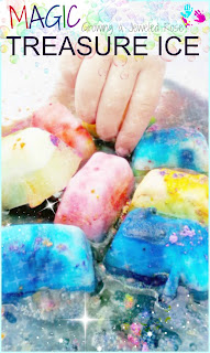 Easy to Make MAGIC Ice & Treasure Ice- A great way for kids to stay cool while having some SUPER Summer FUN!