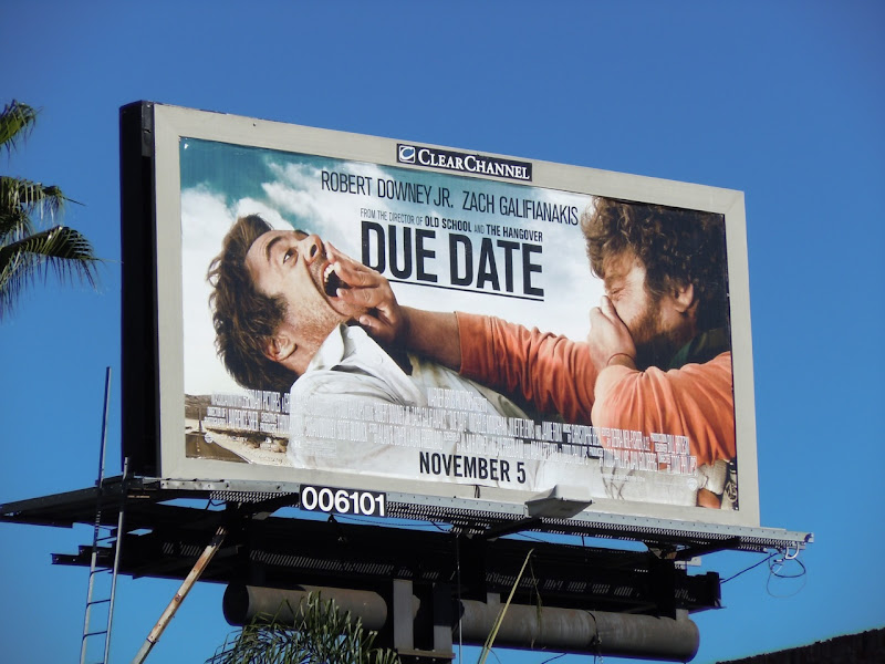 Due Date movie billboard