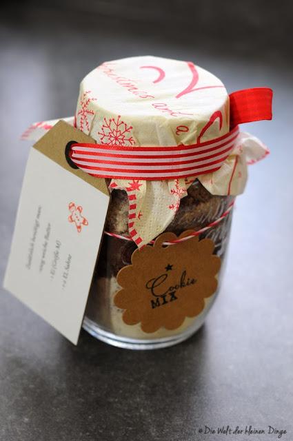 Die Welt der kleinen Dinge: Cookie-Mix im Glas