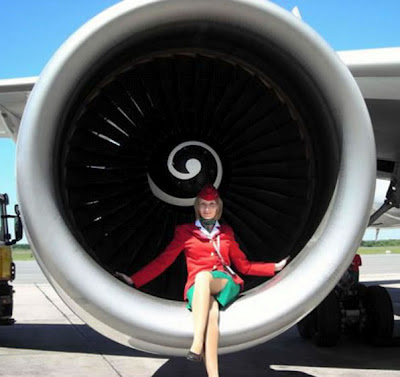 smiling, hypnotized stewardesses need love too