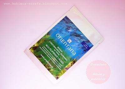 Orientana - Maska z jedwabnej tkaniny na twarz - nasączona biopeptydami, ekstraktem z alg filipińskich i aloesu