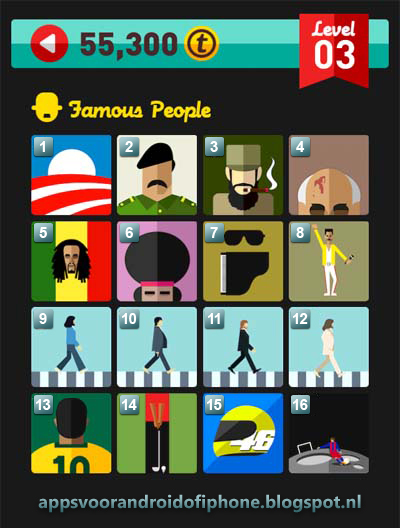 Icon Pop Quiz Level 3 Famous People: cheats, hints, oplossingen en antwoorden