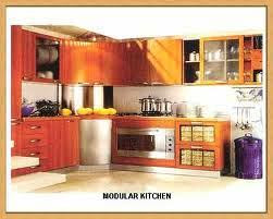 laminated modular kitchen with accessories