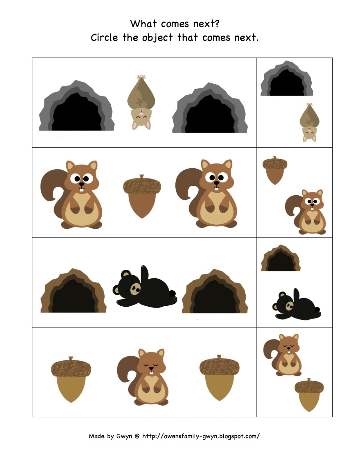 Displaying 17> Images For - Hibernating Animals Printables...