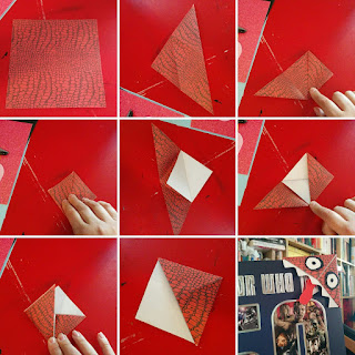 How to fold a corner bookmark left to right row by row!