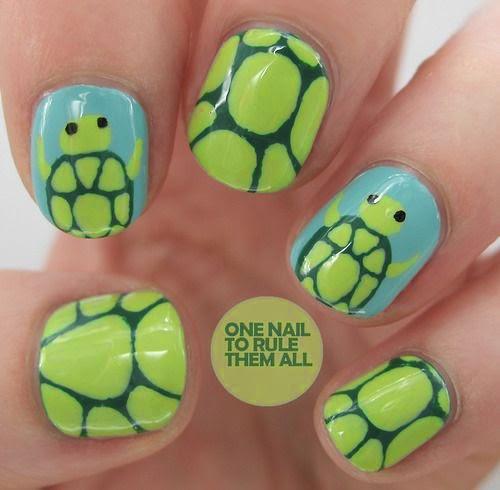 decoracion de uñas con animales