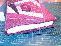 Álomjáró-Bozsomati patchwork naplóborítója crazy technikával