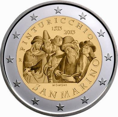 2 Euro Commemorative Coins 2 euro San Marino 2013 Pinturicchio
