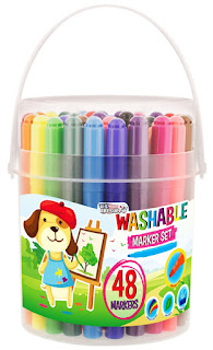 US Art Supply Washable Markers Bucket Set #usartsupply