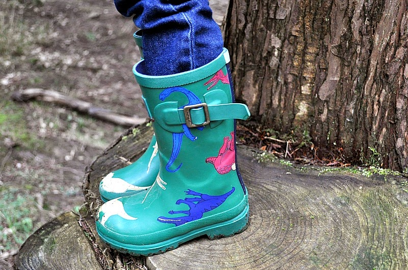 Kids Joules dinosaur wellies