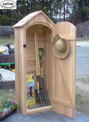 small cedar garden shed