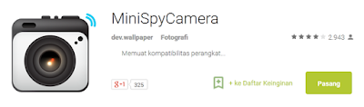 Aplikasi MiniSpy Camera