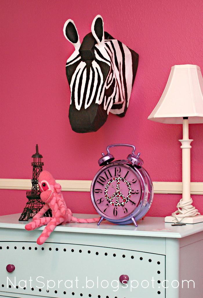 Natsprat a wild bedroom makeover for Cute zebra bedroom ideas