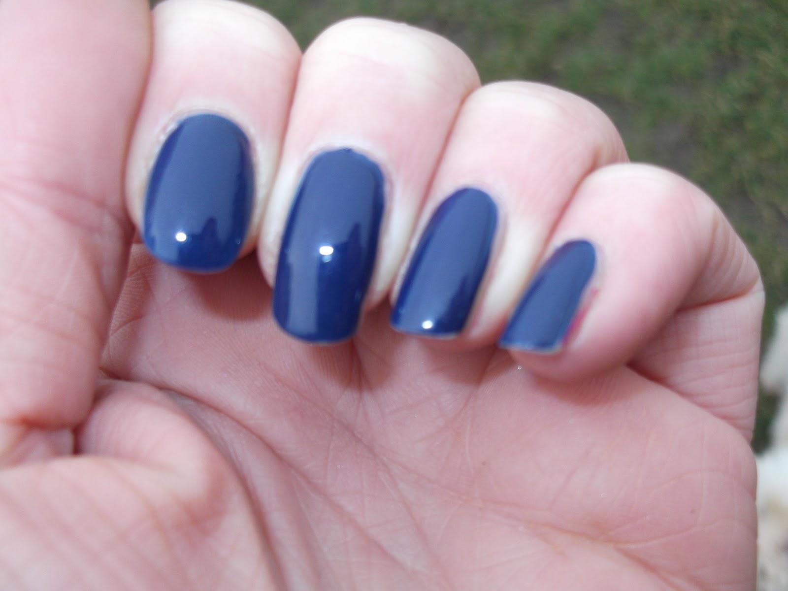 Maybelline Forever Strong Pro Porcelain Nails: Blue Denim ...