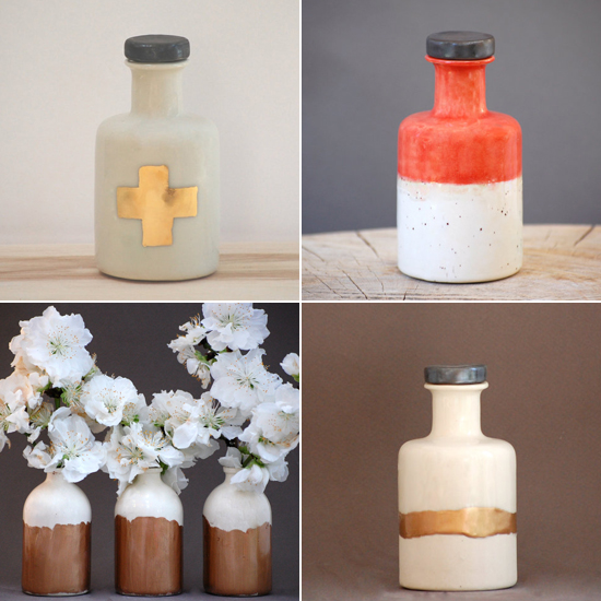 Handmade porcelain apothecary bottles by Honeycomb Studio on Etsy #porcelain #handmade