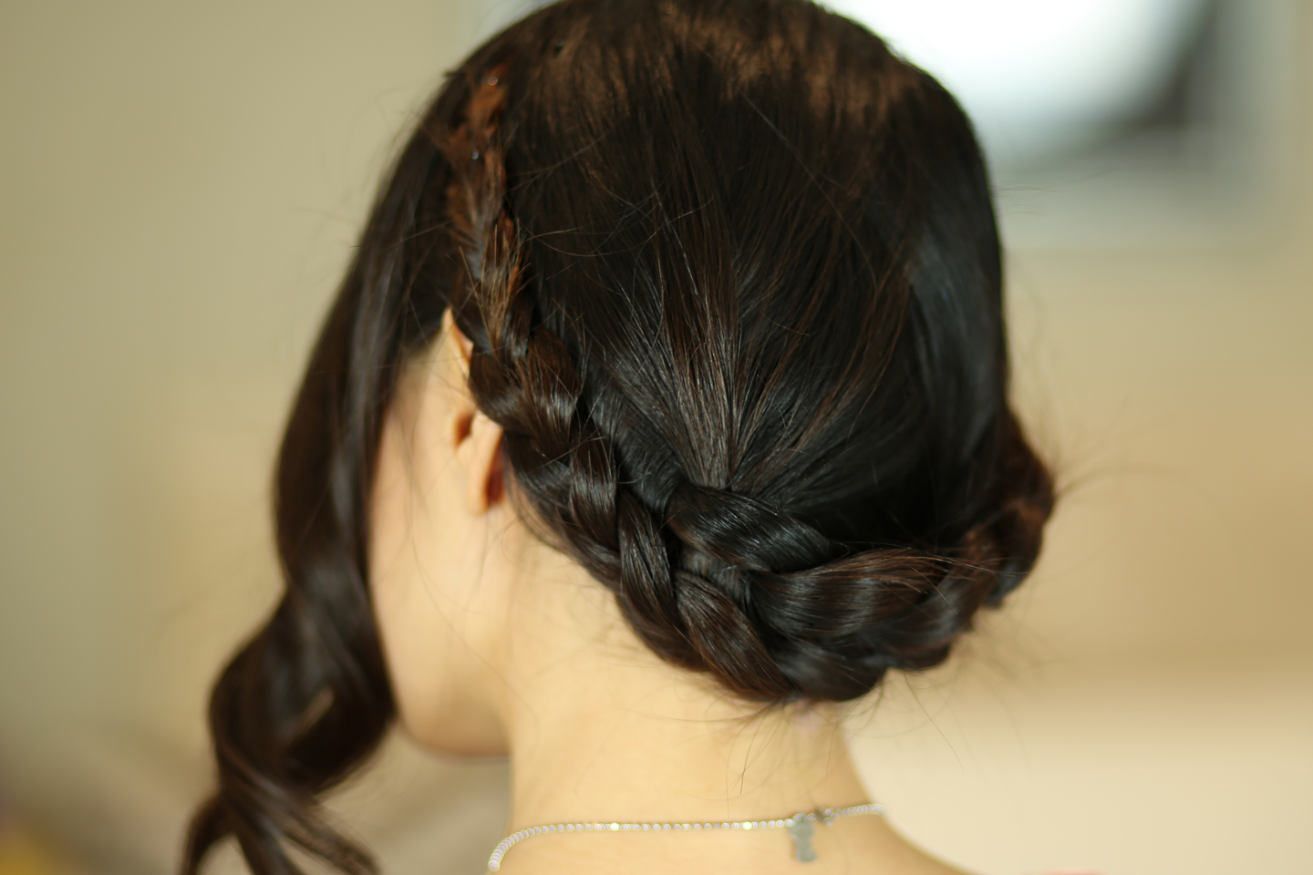 festival hair easiest milkmaid braid tutorial from head