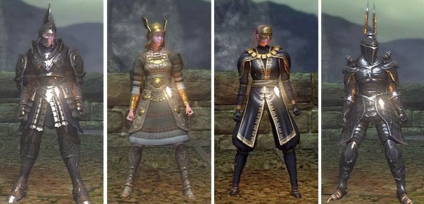 Demon's Souls female armor sets