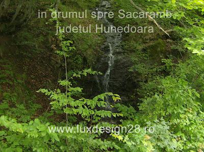 O minicascada in drumul catre satul Sacaramb