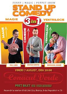 Stand-Up Comedy magie & Ventrilocie Bistrita Vineri 7 August