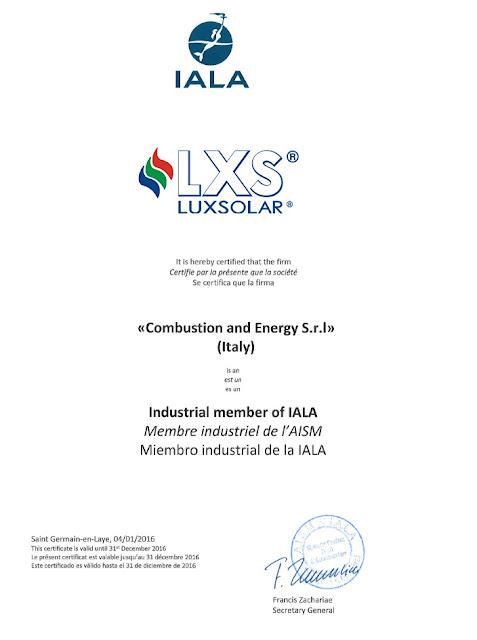 Luxsolar, IALA üyesi. Luxsolar deniz ikaz lambaları IALA sertifikalı
