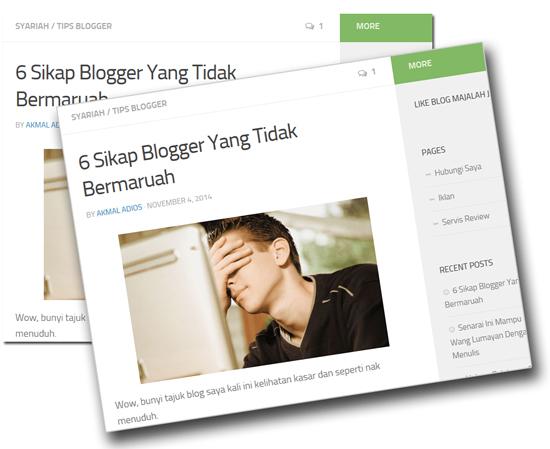 Sikap blogger yang bermaruah