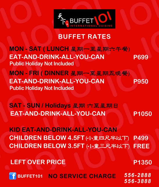 Buffet 101 Robinsons Magnolia Lunch Buffet