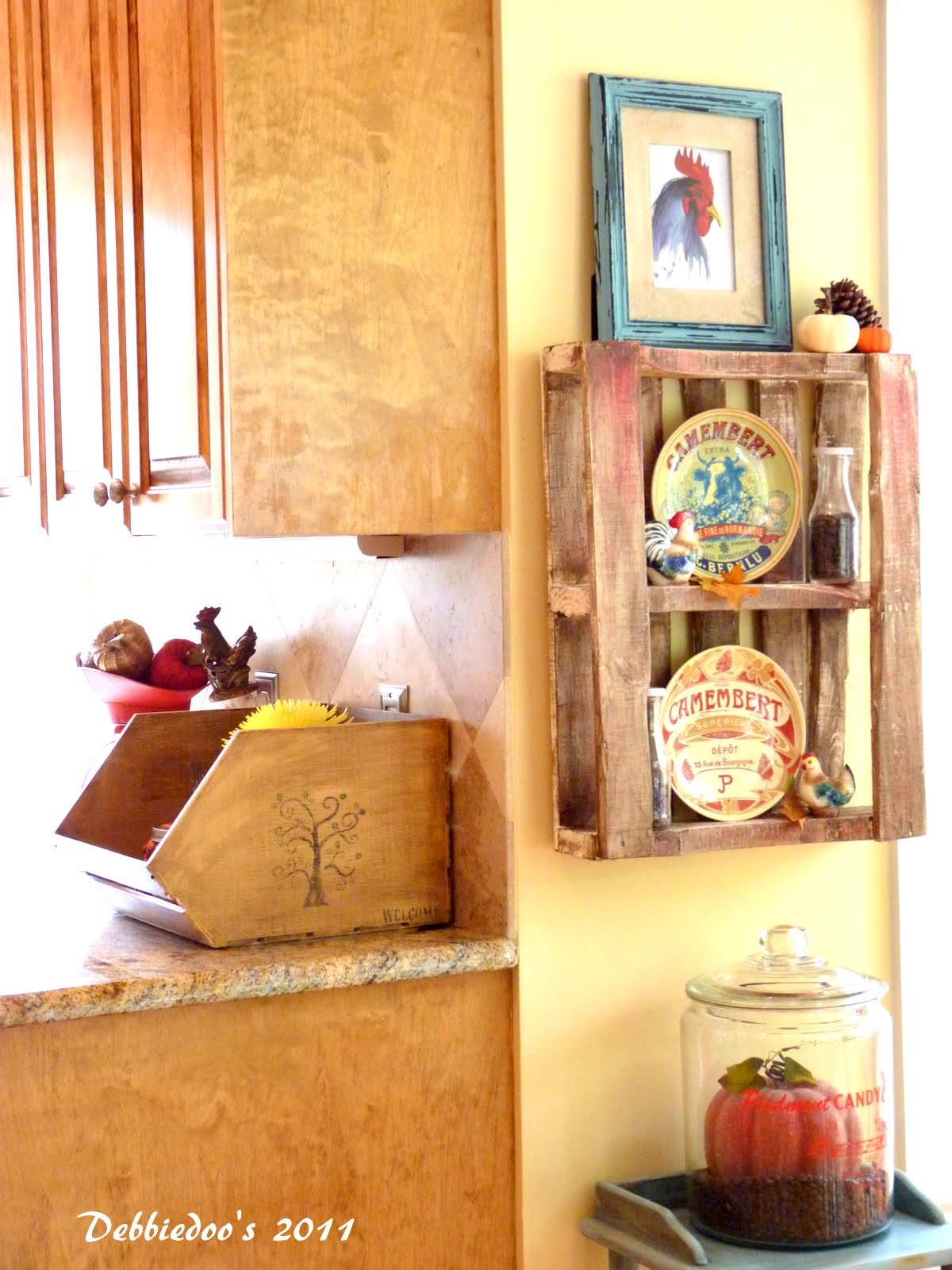 Country french kitchen tour... { decorating with mason jars ...