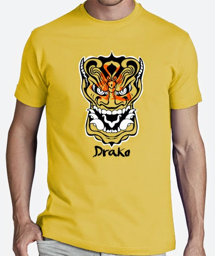 Camiseta dragon oriental