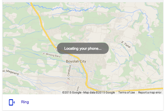 Google Search phone tracker
