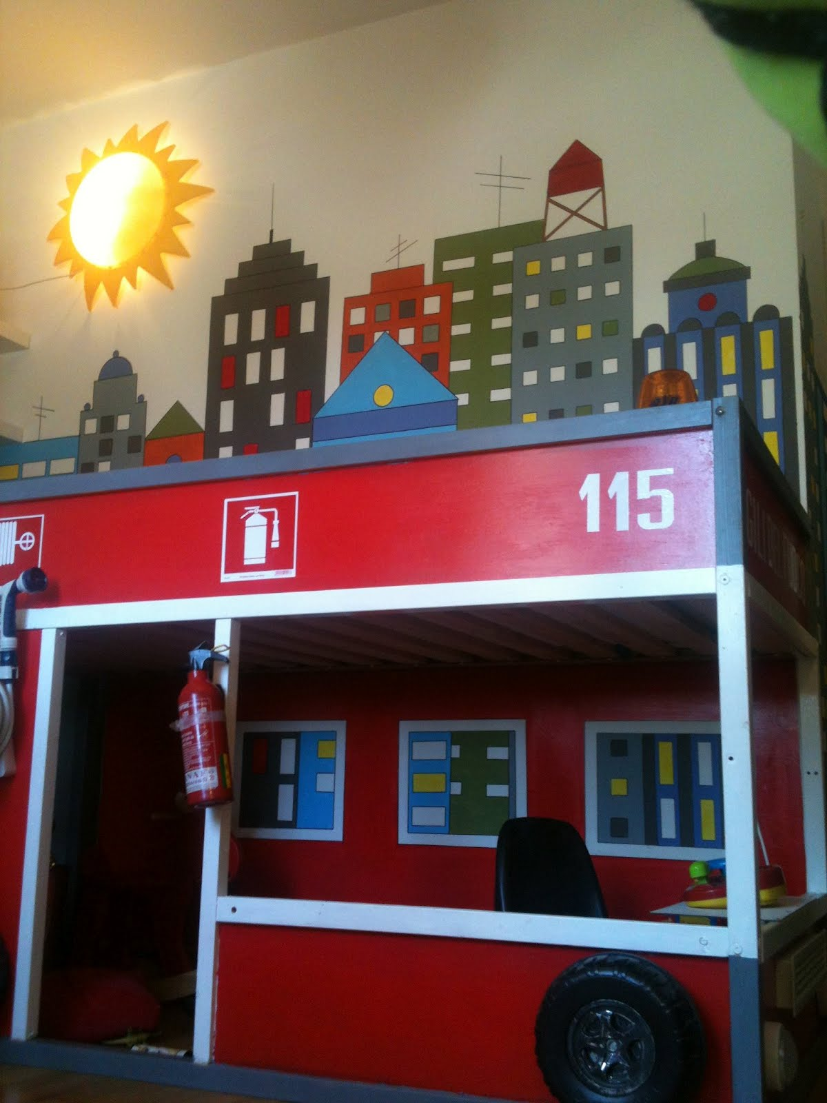 Home kura firetruck - Ikea fire truck bed ...