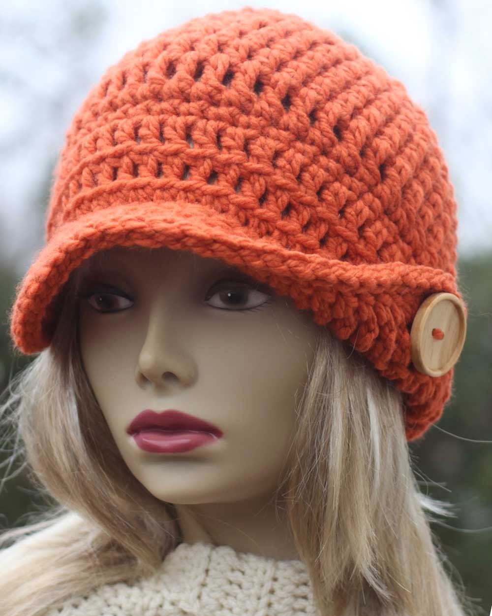 Winged Brim Newsboy!! NEW Pattern in the store!!