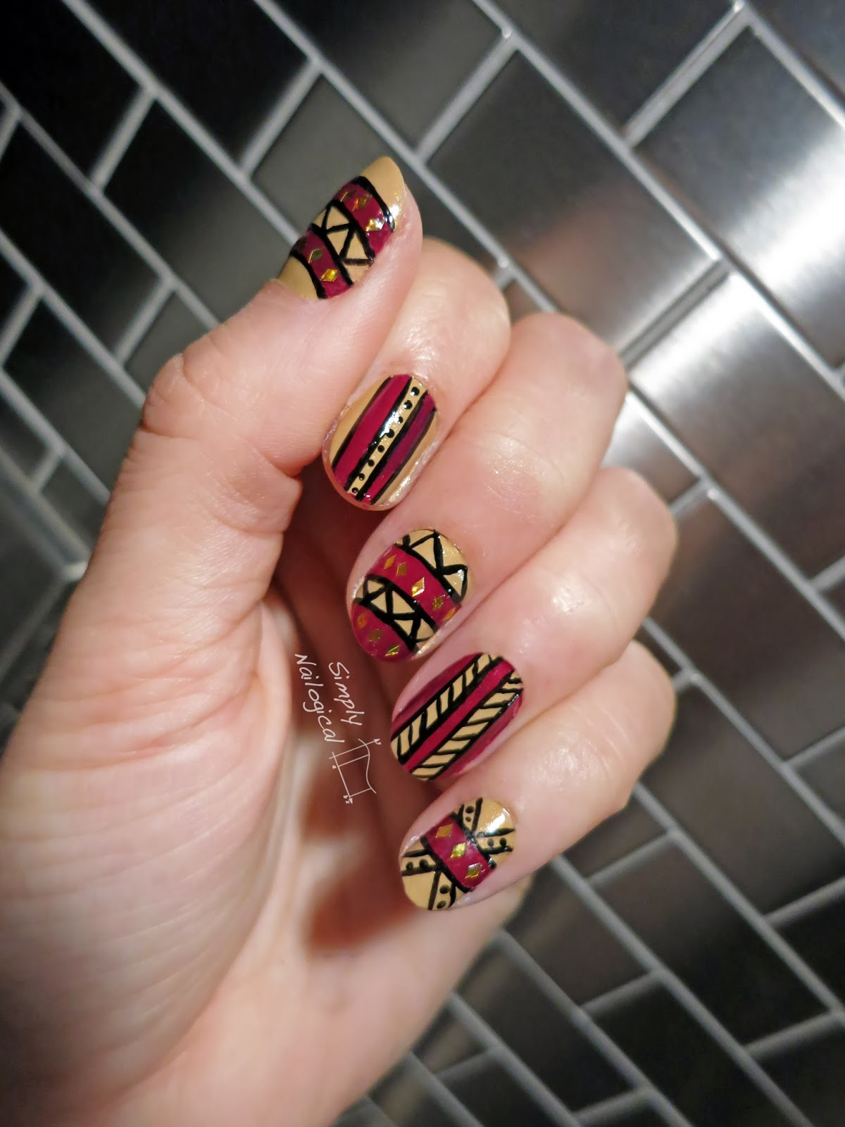 Simply Nailogical An Attempt At Tribal Nail Art