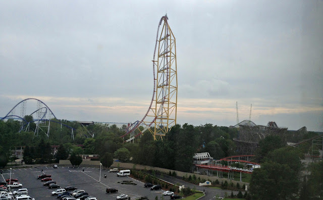 View from our room at @CedarPoint Hotel Breakers #bloggingatCP