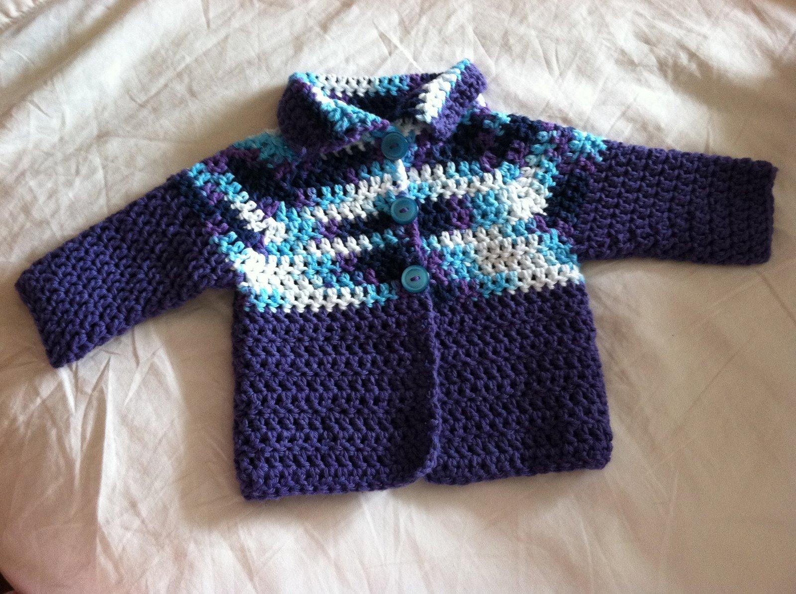 Cookin Craftin Crocheted Baby Cardigan