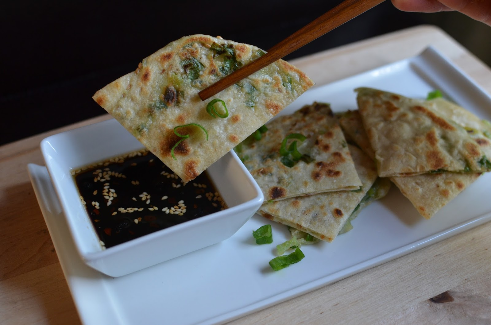 Playing with Flour: Project (Scallion) Pancake