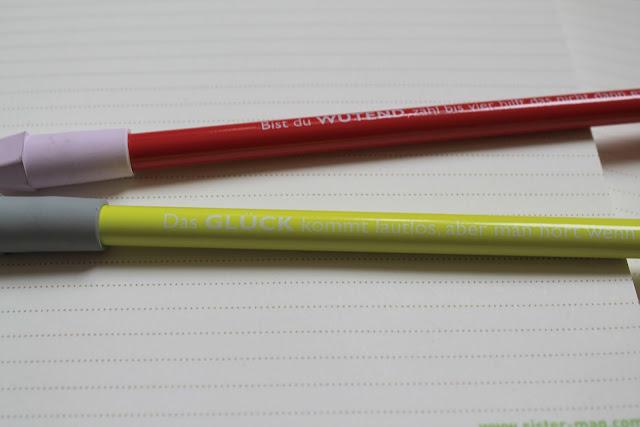 Bedruckte Bleistifte