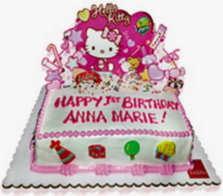 Cake for the Jollibee party theme Hello Kitty