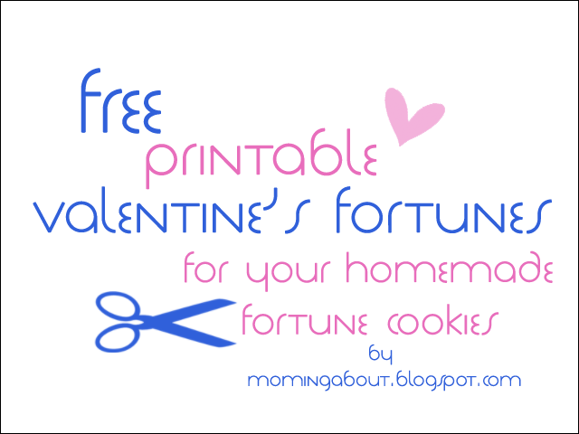 photo relating to Printable Fortunes titled Moming In excess of: Handmade Fortune Cookies + Free of charge Valentines