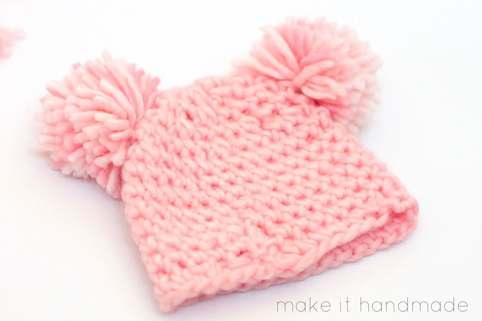 Make It Handmade: The Bubble Gum Newborn Hat -- Free Pattern