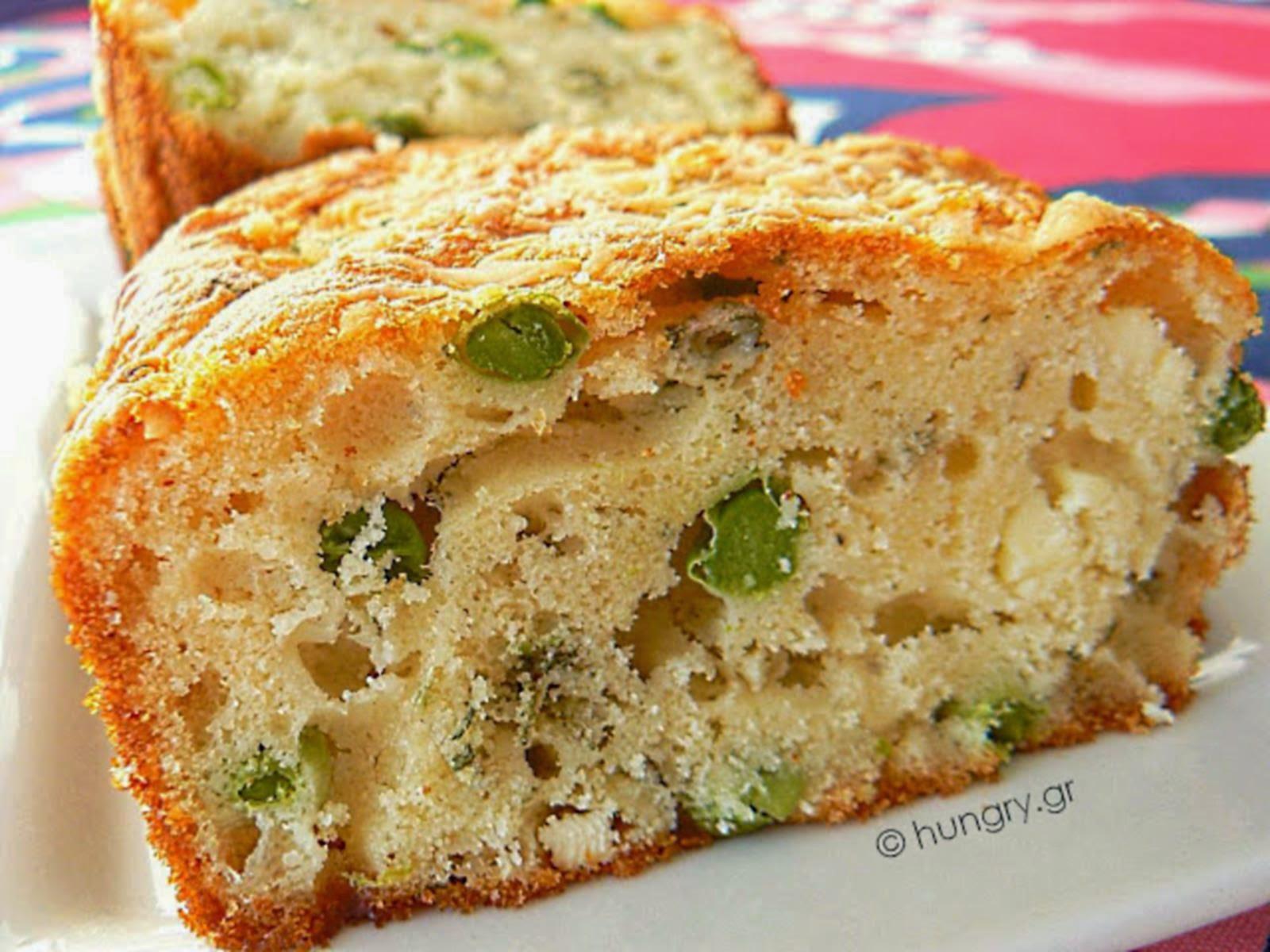 Feta Cheese Cake with Peas