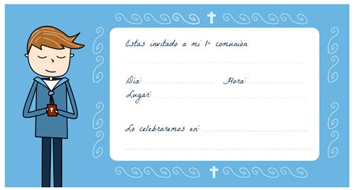Manualidades: Tarjetas de comunión para imprimir